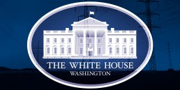 white house logo on top of powerlines